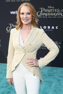 """HOLLYWOOD, CA - MAY 18: Actor Marg Helgenberger at the Premiere of Disney's and Jerry Bruckheimer Films' """"Pirates of the Caribbean: Dead Men Tell No Tales,"""" at the Dolby Theatre in Hollywood, CA with Johnny Depp as the one-and-only Captain Jack in a rollicking new tale of the high seas infused with the elements of fantasy, humor and action that have resulted in an international phenomenon for the past 13 years. May 18, 2017 in Hollywood, California. (Photo by Rich Polk/Getty Images for Disney) *** Local Caption *** Marg Helgenberger"""