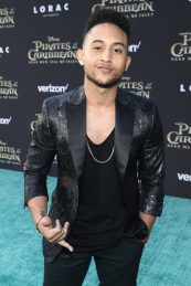 """HOLLYWOOD, CA - MAY 18: Actor Tahj Mowry at the Premiere of Disney's and Jerry Bruckheimer Films' """"Pirates of the Caribbean: Dead Men Tell No Tales,"""" at the Dolby Theatre in Hollywood, CA with Johnny Depp as the one-and-only Captain Jack in a rollicking new tale of the high seas infused with the elements of fantasy, humor and action that have resulted in an international phenomenon for the past 13 years. May 18, 2017 in Hollywood, California. (Photo by Rich Polk/Getty Images for Disney) *** Local Caption *** Tahj Mowry"""