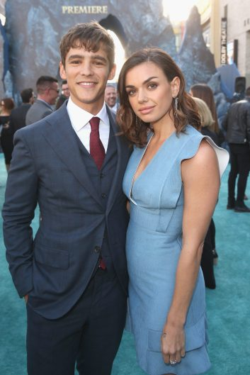 """HOLLYWOOD, CA - MAY 18: Actor Brenton Thwaites (L) and Chloe Pacey at the Premiere of Disney's and Jerry Bruckheimer Films' """"Pirates of the Caribbean: Dead Men Tell No Tales,"""" at the Dolby Theatre in Hollywood, CA with Johnny Depp as the one-and-only Captain Jack in a rollicking new tale of the high seas infused with the elements of fantasy, humor and action that have resulted in an international phenomenon for the past 13 years. May 18, 2017 in Hollywood, California. (Photo by Jesse Grant/Getty Images for Disney) *** Local Caption *** Brenton Thwaites; Chloe Pacey"""