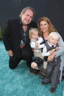 """HOLLYWOOD, CA - MAY 18: Writer Terry Rossio (L) and family at the Premiere of Disney's and Jerry Bruckheimer Films' """"Pirates of the Caribbean: Dead Men Tell No Tales,"""" at the Dolby Theatre in Hollywood, CA with Johnny Depp as the one-and-only Captain Jack in a rollicking new tale of the high seas infused with the elements of fantasy, humor and action that have resulted in an international phenomenon for the past 13 years. May 18, 2017 in Hollywood, California. (Photo by Jesse Grant/Getty Images for Disney) *** Local Caption *** Terry Rossio"""