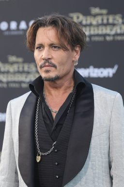 "HOLLYWOOD, CA - MAY 18: Actor Johnny Depp at the Premiere of Disney's and Jerry Bruckheimer Films' ""Pirates of the Caribbean: Dead Men Tell No Tales,"" at the Dolby Theatre in Hollywood, CA with Johnny Depp as the one-and-only Captain Jack in a rollicking new tale of the high seas infused with the elements of fantasy, humor and action that have resulted in an international phenomenon for the past 13 years. May 18, 2017 in Hollywood, California. (Photo by Rich Polk/Getty Images for Disney) *** Local Caption *** Johnny Depp"