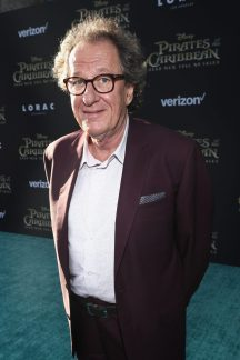 "HOLLYWOOD, CA - MAY 18: Actor Geoffrey Rush at the Premiere of Disney's and Jerry Bruckheimer Films' ""Pirates of the Caribbean: Dead Men Tell No Tales,"" at the Dolby Theatre in Hollywood, CA with Johnny Depp as the one-and-only Captain Jack in a rollicking new tale of the high seas infused with the elements of fantasy, humor and action that have resulted in an international phenomenon for the past 13 years. May 18, 2017 in Hollywood, California. (Photo by Rich Polk/Getty Images for Disney) *** Local Caption *** Geoffrey Rush"