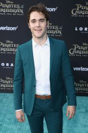 """HOLLYWOOD, CA - MAY 18: Actor Charlie DePew at the Premiere of Disney's and Jerry Bruckheimer Films' """"Pirates of the Caribbean: Dead Men Tell No Tales,"""" at the Dolby Theatre in Hollywood, CA with Johnny Depp as the one-and-only Captain Jack in a rollicking new tale of the high seas infused with the elements of fantasy, humor and action that have resulted in an international phenomenon for the past 13 years. May 18, 2017 in Hollywood, California. (Photo by Rich Polk/Getty Images for Disney) *** Local Caption *** Charlie DePew"""