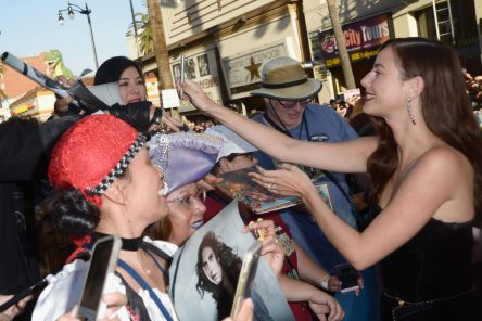 """HOLLYWOOD, CA - MAY 18: Actor Kaya Scodelario at the Premiere of Disney's and Jerry Bruckheimer Films' """"Pirates of the Caribbean: Dead Men Tell No Tales,"""" at the Dolby Theatre in Hollywood, CA with Johnny Depp as the one-and-only Captain Jack in a rollicking new tale of the high seas infused with the elements of fantasy, humor and action that have resulted in an international phenomenon for the past 13 years. May 18, 2017 in Hollywood, California. (Photo by Marc Flores/Getty Images for Disney) *** Local Caption *** Kaya Scodelario"""