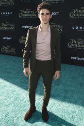 """HOLLYWOOD, CA - MAY 18: Actor Cameron Boyce at the Premiere of Disney's and Jerry Bruckheimer Films' """"Pirates of the Caribbean: Dead Men Tell No Tales,"""" at the Dolby Theatre in Hollywood, CA with Johnny Depp as the one-and-only Captain Jack in a rollicking new tale of the high seas infused with the elements of fantasy, humor and action that have resulted in an international phenomenon for the past 13 years. May 18, 2017 in Hollywood, California. (Photo by Rich Polk/Getty Images for Disney) *** Local Caption *** Cameron Boyce"""