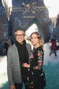 "HOLLYWOOD, CA - MAY 18: Actor Jaime Camil (L) and Heidi Balvanera at the Premiere of Disney's and Jerry Bruckheimer Films' ""Pirates of the Caribbean: Dead Men Tell No Tales,"" at the Dolby Theatre in Hollywood, CA with Johnny Depp as the one-and-only Captain Jack in a rollicking new tale of the high seas infused with the elements of fantasy, humor and action that have resulted in an international phenomenon for the past 13 years. May 18, 2017 in Hollywood, California. (Photo by Jesse Grant/Getty Images for Disney) *** Local Caption *** Jaime Camil; Heidi Balvanera"