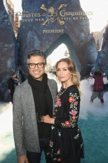 """HOLLYWOOD, CA - MAY 18: Actor Jaime Camil (L) and Heidi Balvanera at the Premiere of Disney's and Jerry Bruckheimer Films' """"Pirates of the Caribbean: Dead Men Tell No Tales,"""" at the Dolby Theatre in Hollywood, CA with Johnny Depp as the one-and-only Captain Jack in a rollicking new tale of the high seas infused with the elements of fantasy, humor and action that have resulted in an international phenomenon for the past 13 years. May 18, 2017 in Hollywood, California. (Photo by Jesse Grant/Getty Images for Disney) *** Local Caption *** Jaime Camil; Heidi Balvanera"""