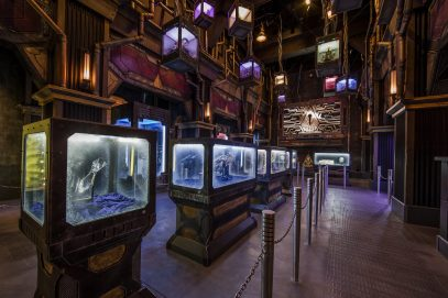 Guardians of the GalaxyÐMission: BREAKOUT! Ñ Guests will discover artifacts from the Super Hero universe as they tour the Tivan Collection as part of the Guardians of the Galaxy Ð Mission: BREAKOUT! attraction at Disney California park. The epic new adventure blasts guests straight into the ÒGuardians of the GalaxyÓ story for the first time, alongside characters from the blockbuster films and comics. (Joshua Sudock/Disneyland Resort)