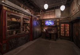 """Guardians of the Galaxy–Mission: BREAKOUT! — Guests on Terra (Earth) will find hundreds of artifacts decorating the private office of The Collector, Tivan Tanaleer, featuring objects gathered from around the galaxy. Guests of Disney California Adventure Park can view this as part of the Guardians of the Galaxy – Mission: BREAKOUT! attraction. The epic new adventure blasts guests straight into the """"Guardians of the Galaxy"""" story for the first time, alongside characters from the blockbuster films and comics. (Joshua Sudock/Disneyland Resort)"""
