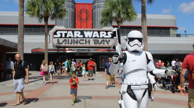 First Order Storm Trooper at Star Wars Launch Bay at Disney's Hollywood Studios, Walt Disney World Resort