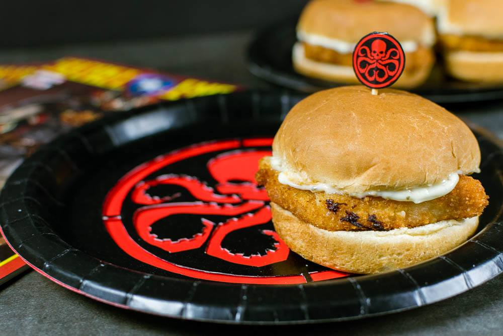 Geek Eats: Hydra Schnitzel Sliders with Lemon Caper Aioli