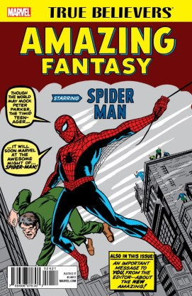 TRUE BELIEVERS_AMAZING FANTASY STARRING SPIDER-MAN 001