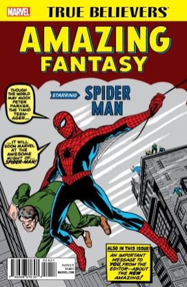 TRUE BELIEVERS_AMAZING FANTASY STARRING SPIDER-MAN 001
