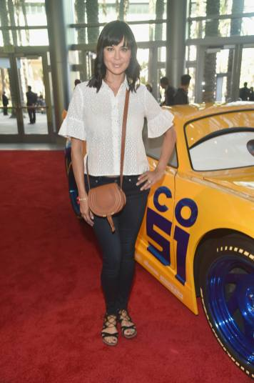 """ANAHEIM, CA - JUNE 10: Actor Catherine Bell poses at the World Premiere of Disney/Pixarís ìCars 3"""" at the Anaheim Convention Center on June 10, 2017 in Anaheim, California. (Photo by Alberto E. Rodriguez/Getty Images for Disney) *** Local Caption *** Catherine Bell"""