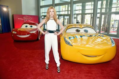 "ANAHEIM, CA - JUNE 10: Actor Katherine McNamara poses at the World Premiere of Disney/Pixarís ìCars 3"" at the Anaheim Convention Center on June 10, 2017 in Anaheim, California. (Photo by Alberto E. Rodriguez/Getty Images for Disney) *** Local Caption *** Katherine McNamara"