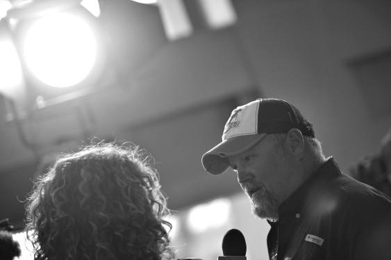 "ANAHEIM, CA - JUNE 10: (EDITORS NOTE: Image has been shot in black and white) Actor Larry the Cable Guy at the World Premiere of Disney/Pixarís ìCars 3"" at the Anaheim Convention Center on June 10, 2017 in Anaheim, California. (Photo by Charley Gallay/Getty Images for Disney) *** Local Caption *** Larry the Cable Guy"