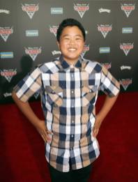 """ANAHEIM, CA - JUNE 10: Actor Hudson Yang poses at the World Premiere of Disney/Pixarís ìCars 3"""" at the Anaheim Convention Center on June 10, 2017 in Anaheim, California. (Photo by Jesse Grant/Getty Images for Disney) *** Local Caption *** Hudson Yang"""