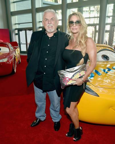 """ANAHEIM, CA - JUNE 10: Actor John Ratzenberger (L) and Julie Blichfeldt at the World Premiere of Disney/Pixarís ìCars 3"""" at the Anaheim Convention Center on June 10, 2017 in Anaheim, California. (Photo by Alberto E. Rodriguez/Getty Images for Disney) *** Local Caption *** John Ratzenberger;Julie Blichfeldt"""