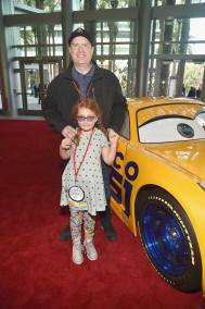 """ANAHEIM, CA - JUNE 10: President of Marvel Studios Kevin Feige and guest at the World Premiere of Disney/Pixarís ìCars 3"""" at the Anaheim Convention Center on June 10, 2017 in Anaheim, California. (Photo by Alberto E. Rodriguez/Getty Images for Disney) *** Local Caption *** Kevin Feige"""