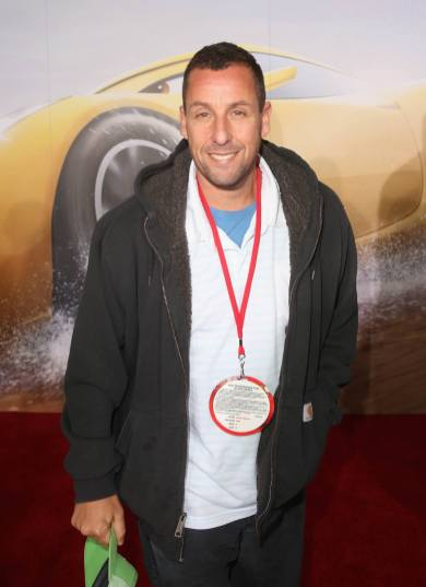 "ANAHEIM, CA - JUNE 10: Actor Adam Sandler poses at the World Premiere of Disney/Pixarís ìCars 3"" at the Anaheim Convention Center on June 10, 2017 in Anaheim, California. (Photo by Jesse Grant/Getty Images for Disney) *** Local Caption *** Adam Sandler"