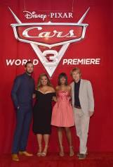 "ANAHEIM, CA - JUNE 10: (L-R) Actors Armie Hammer, Cristela Alonzo, Kerry Washington, and Owen Wilson pose at the World Premiere of Disney/Pixarís ìCars 3"" at the Anaheim Convention Center on June 10, 2017 in Anaheim, California. (Photo by Alberto E. Rodriguez/Getty Images for Disney) *** Local Caption *** Armie Hammer;Cristela Alonzo;Kerry Washington"