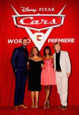 """ANAHEIM, CA - JUNE 10: (L-R) Actors Armie Hammer, Cristela Alonzo, Kerry Washington, and Owen Wilson pose at the World Premiere of Disney/Pixarís ìCars 3"""" at the Anaheim Convention Center on June 10, 2017 in Anaheim, California. (Photo by Jesse Grant/Getty Images for Disney) *** Local Caption *** Armie Hammer;Cristela Alonzo;Kerry Washington"""