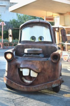 """ANAHEIM, CA - JUNE 10: A view of a """"Mater"""" character display at the after party for the World Premiere of Disney/Pixarís ìCars 3î at Cars Land at Disney California Adventure in Anaheim, CA. (Photo by Alberto E. Rodriguez/Getty Images for Disney)"""