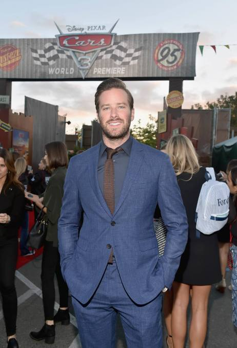 ANAHEIM, CA - JUNE 10: Actor Armie Hammer poses at the after party for the World Premiere of Disney/Pixarís ìCars 3î at Cars Land at Disney California Adventure in Anaheim, CA. (Photo by Alberto E. Rodriguez/Getty Images for Disney) *** Local Caption *** Armie Hammer