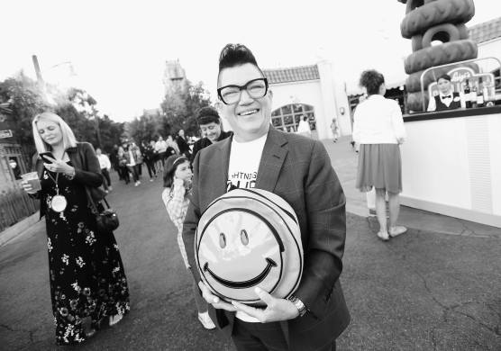 ANAHEIM, CA - JUNE 10: (EDITORS NOTE: Image has been shot in black and white. Color version not available.) Actor Lea DeLaria poses at the after party for the World Premiere of Disney/Pixarís ìCars 3î at Cars Land at Disney California Adventure in Anaheim, CA. (Photo by Charley Gallay/Getty Images for Disney) *** Local Caption *** Lea DeLaria