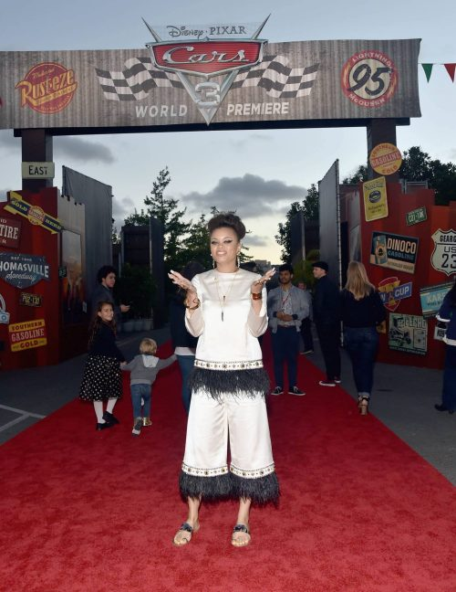 ANAHEIM, CA - JUNE 10: Recording artist Andra Day poses at the after party for the World Premiere of Disney/Pixarís ìCars 3î at Cars Land at Disney California Adventure in Anaheim, CA. (Photo by Alberto E. Rodriguez/Getty Images for Disney) *** Local Caption *** Andra Day