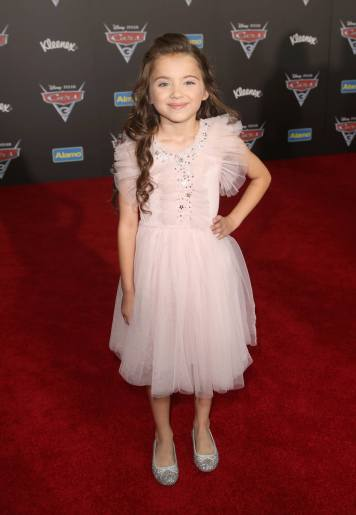 """ANAHEIM, CA - JUNE 10: Actor Madeleine McGraw poses at the World Premiere of Disney/Pixarís ìCars 3"""" at the Anaheim Convention Center on June 10, 2017 in Anaheim, California. (Photo by Jesse Grant/Getty Images for Disney) *** Local Caption *** Madeleine McGraw"""