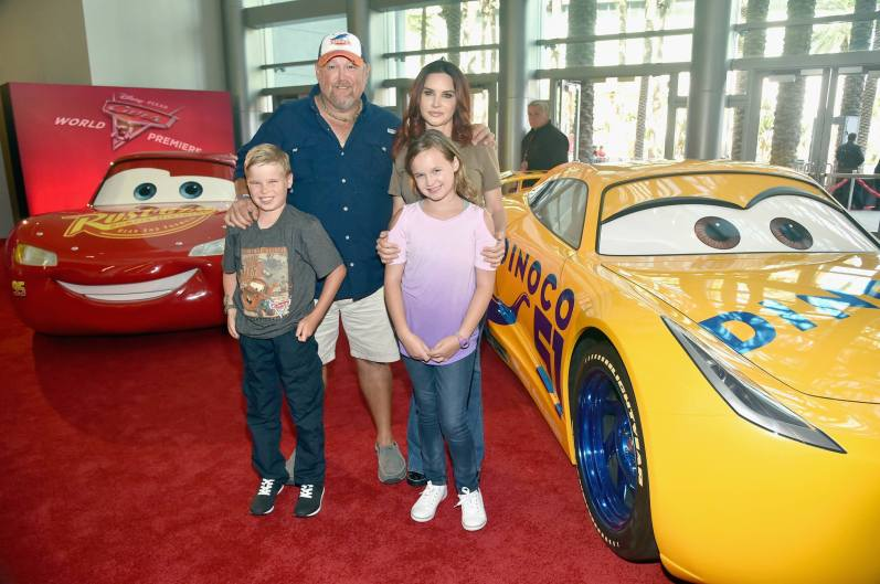 """ANAHEIM, CA - JUNE 10: Actor Larry the Cable Guy and family at the World Premiere of Disney/Pixarís ìCars 3"""" at the Anaheim Convention Center on June 10, 2017 in Anaheim, California. (Photo by Alberto E. Rodriguez/Getty Images for Disney) *** Local Caption *** Larry the Cable Guy"""