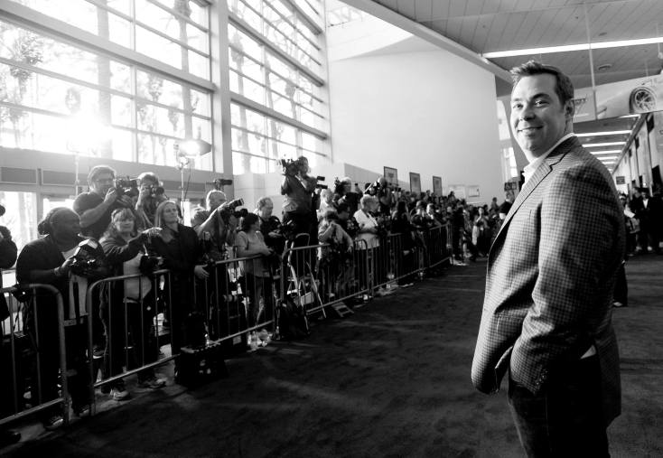"""ANAHEIM, CA - JUNE 10: (EDITORS NOTE: Image has been shot in black and white. Color version not available.) Director Brian Fee poses at the World Premiere of Disney/Pixarís ìCars 3"""" at the Anaheim Convention Center on June 10, 2017 in Anaheim, California. (Photo by Charley Gallay/Getty Images for Disney) *** Local Caption *** Brian Fee"""