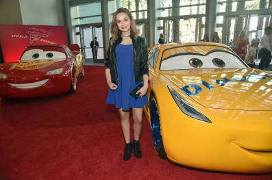 "ANAHEIM, CA - JUNE 10: Actor Alyssa Jirrels at the World Premiere of Disney/Pixarís ìCars 3"" at the Anaheim Convention Center on June 10, 2017 in Anaheim, California. (Photo by Alberto E. Rodriguez/Getty Images for Disney) *** Local Caption *** Alyssa Jirrels"