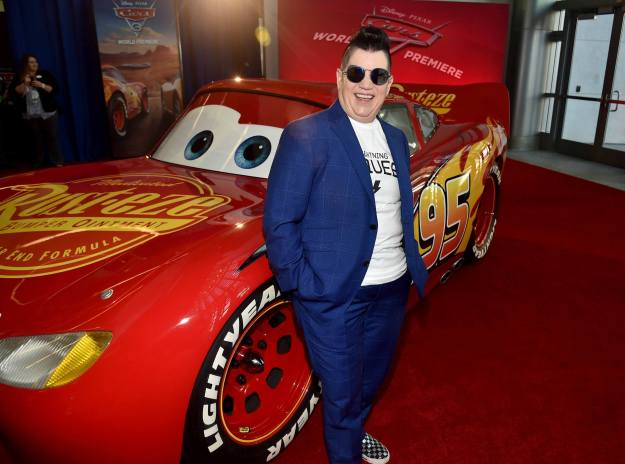 """ANAHEIM, CA - JUNE 10: Actor Lea DeLaria poses at the World Premiere of Disney/Pixarís ìCars 3"""" at the Anaheim Convention Center on June 10, 2017 in Anaheim, California. (Photo by Alberto E. Rodriguez/Getty Images for Disney) *** Local Caption *** Lea DeLaria"""
