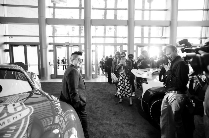 """ANAHEIM, CA - JUNE 10: (EDITORS NOTE: Image has been shot in black and white. Color version not available.) Actor Lea DeLaria poses at the World Premiere of Disney/Pixarís ìCars 3"""" at the Anaheim Convention Center on June 10, 2017 in Anaheim, California. (Photo by Charley Gallay/Getty Images for Disney) *** Local Caption *** Lea DeLaria"""