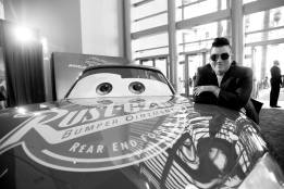 "ANAHEIM, CA - JUNE 10: (EDITORS NOTE: Image has been shot in black and white. Color version not available.) Actor Lea DeLaria poses at the World Premiere of Disney/Pixarís ìCars 3"" at the Anaheim Convention Center on June 10, 2017 in Anaheim, California. (Photo by Charley Gallay/Getty Images for Disney) *** Local Caption *** Lea DeLaria"