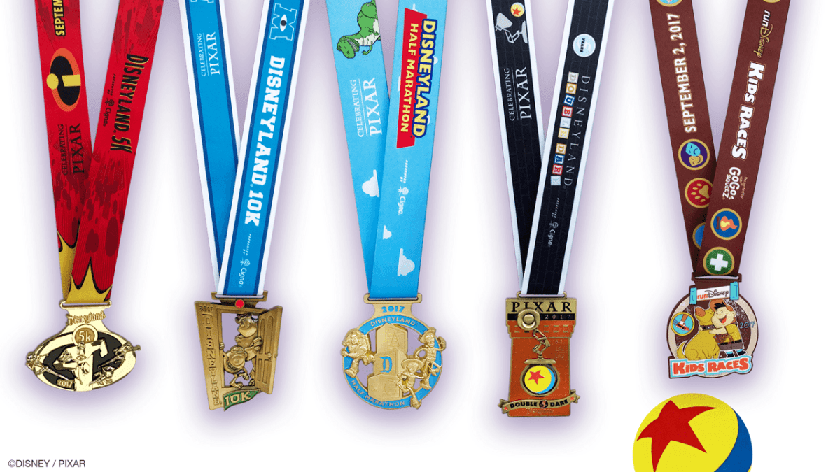 Pixar Inspired Medals Unveiled for Disneyland Half-Marathon