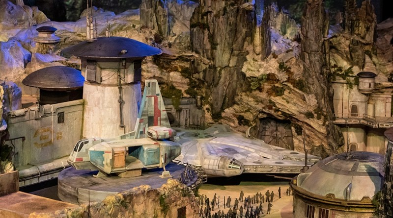 D23 Expo Star Wars Themed Land Model