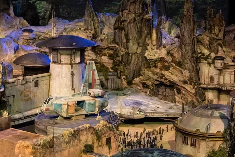 D23 Expo Star Wars Themed Land Model