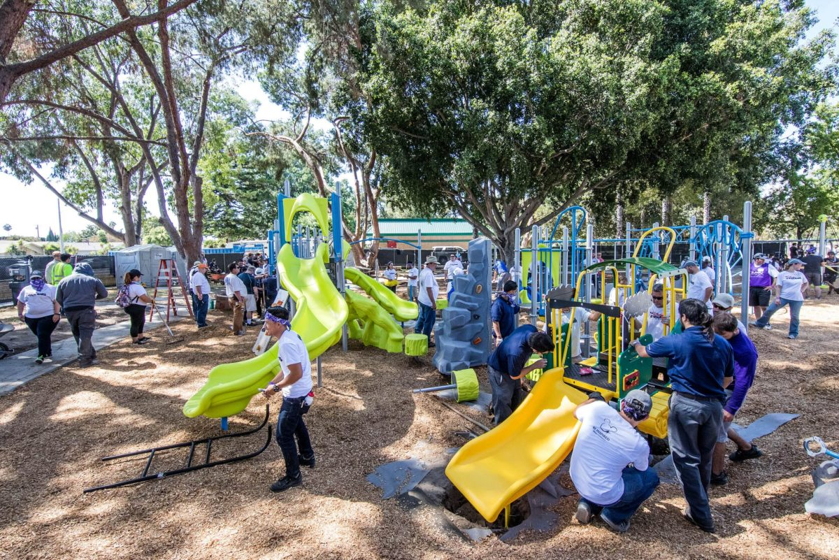 Disneyland Resort Volunteers Build Ninth Disney-sponsored KaBOOM! Playground at Willow Park in Anaheim