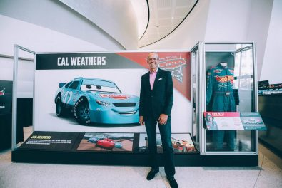 "CHARLOTTE, NC - SEPTEMBER 28: Cars 3 voice of ""Cal Weathers""/NASCAR Retired Driver Kyle Petty"
