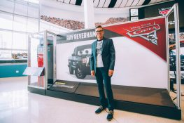 """CHARLOTTE, NC - SEPTEMBER 28: Cars 3 voice of """"Ray Reverham"""" and NASCAR 2018 Hall of Fame Inductee Ray Evernham"""