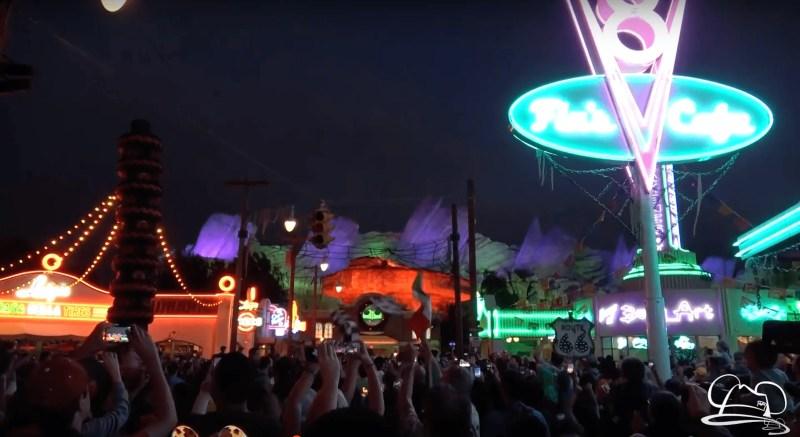 Cars Land Haul-O-Ween Lighting - Halloween Time at the Disneyland Resort