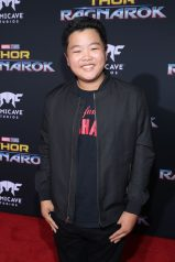 "HOLLYWOOD, CA - OCTOBER 10: Hudson Yang at The World Premiere of Marvel Studios' ""Thor: Ragnarok"" at the El Capitan Theatre on October 10, 2017 in Hollywood, California. (Photo by Rich Polk/Getty Images for Disney) *** Local Caption *** Hudson Yang"