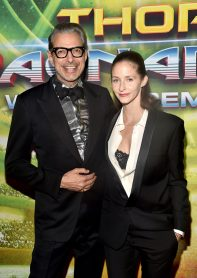 "HOLLYWOOD, CA - OCTOBER 10: Actor Jeff Goldblum (L) and Emilie Livingston at The World Premiere of Marvel Studios' ""Thor: Ragnarok"" at the El Capitan Theatre on October 10, 2017 in Hollywood, California. (Photo by Alberto E. Rodriguez/Getty Images for Disney) *** Local Caption *** Jeff Goldblum; Emilie Livingston"