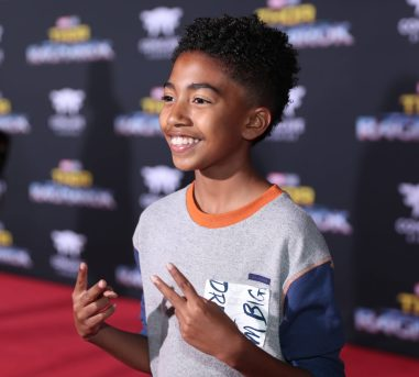 "HOLLYWOOD, CA - OCTOBER 10: Actor Miles Brown at The World Premiere of Marvel Studios' ""Thor: Ragnarok"" at the El Capitan Theatre on October 10, 2017 in Hollywood, California. (Photo by Rich Polk/Getty Images for Disney) *** Local Caption *** Miles Brown"