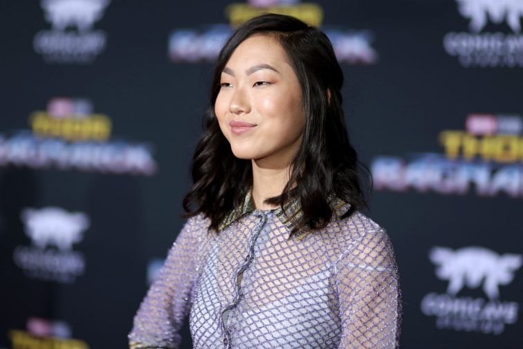 """HOLLYWOOD, CA - OCTOBER 10: Actor Madison Hu at The World Premiere of Marvel Studios' """"Thor: Ragnarok"""" at the El Capitan Theatre on October 10, 2017 in Hollywood, California. (Photo by Rich Polk/Getty Images for Disney) *** Local Caption *** Madison Hu"""