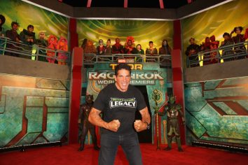 "HOLLYWOOD, CA - OCTOBER 10: Lou Ferrigno at The World Premiere of Marvel Studios' ""Thor: Ragnarok"" at the El Capitan Theatre on October 10, 2017 in Hollywood, California. (Photo by Jesse Grant/Getty Images for Disney) *** Local Caption *** Lou Ferrigno"