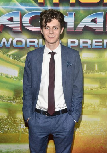 """HOLLYWOOD, CA - OCTOBER 10: Ty Simpkins at The World Premiere of Marvel Studios' """"Thor: Ragnarok"""" at the El Capitan Theatre on October 10, 2017 in Hollywood, California. (Photo by Alberto E. Rodriguez/Getty Images for Disney) *** Local Caption *** Ty Simpkins"""
